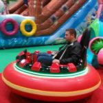 Inflatable Bumper Cars in Playground